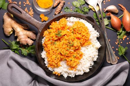 lentejas: El arroz y las lentejas