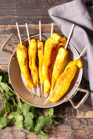 curcuma: fried chicken with curcuma Stock Photo