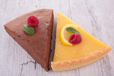 lemon pie: pastel de chocolate y tarta de lim�n