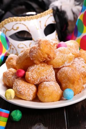none: french donut,pet de none Stock Photo
