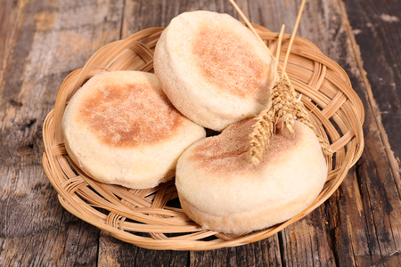 'english: english muffin Stock Photo