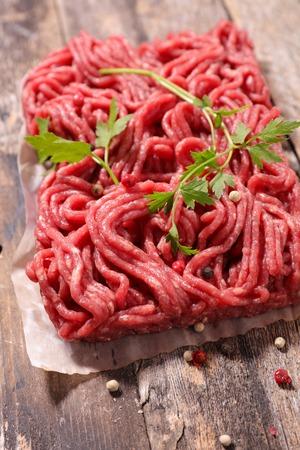 minced beef: raw minced beef