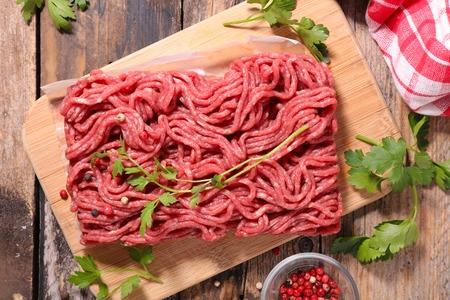 picada: carne picada cruda Foto de archivo