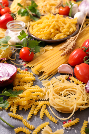 ingredient: assorted raw pasta and ingredient