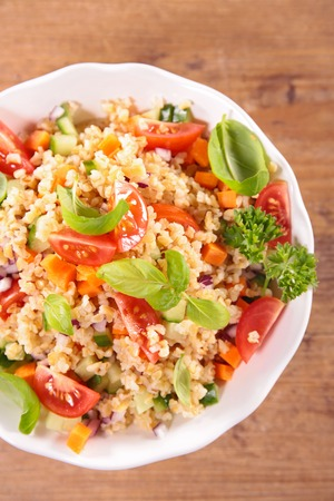 bulgur: vegetable salad with bulgur