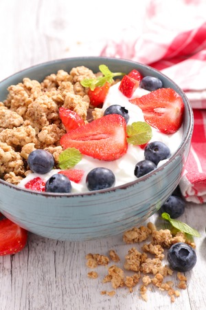 muesli: muesli with berry fruit Stock Photo