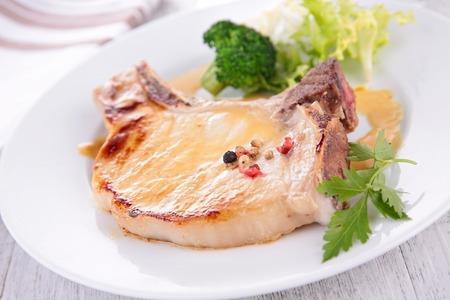 chops: roasted pork chop
