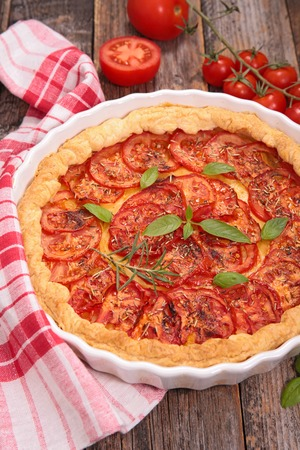 epicure: tomato quiche Stock Photo