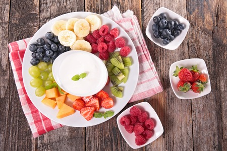 dip: assorted fruit and dip
