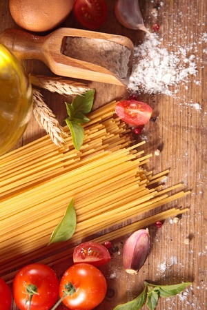 ingredient: spaghetti and ingredient