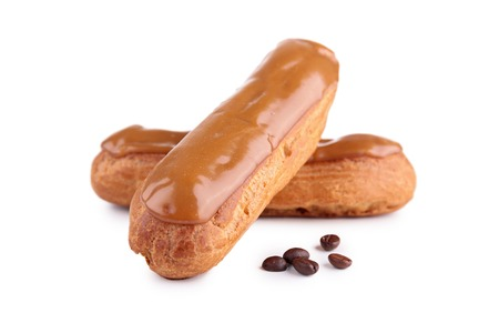 eclair: french coffee eclair pastry