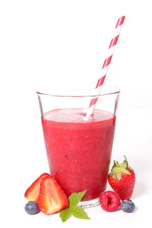 berry: berry smoothie Stock Photo