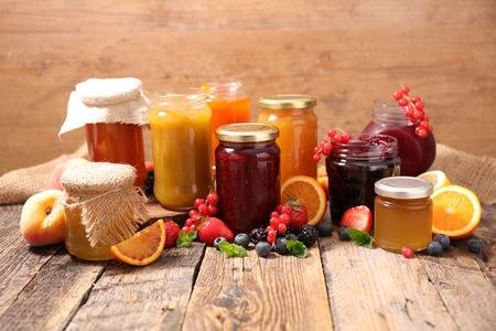 assortment: assortment fruit jam