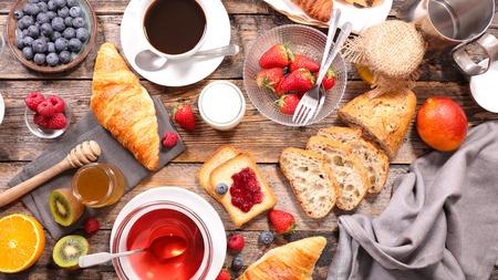 petit-déjeuner continental Banque d'images
