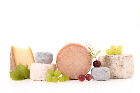 milk products: assorted cheese Stock Photo