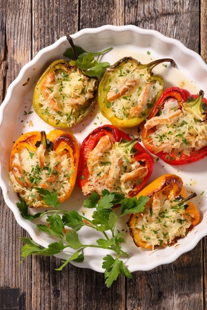 bell pepper: baked bell pepper
