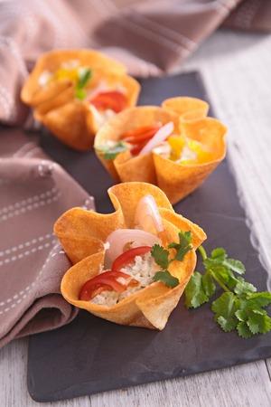 canape: finger food, creative canape Stock Photo
