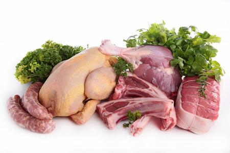 carnes: las carnes crudas surtidos Foto de archivo