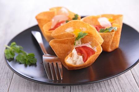 appetizers menu: finger food, creative canape Stock Photo