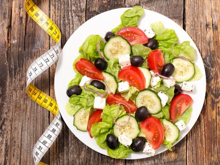 diet food: diet food concept,vegetable salad
