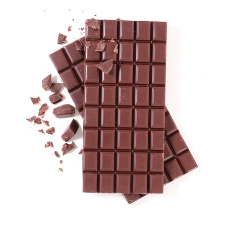 chocolate bar isolated on white Banque d'images
