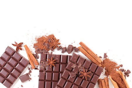 composition: chocolate composition Stock Photo