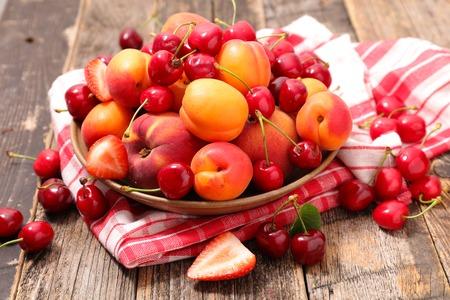 assorted summer fruits