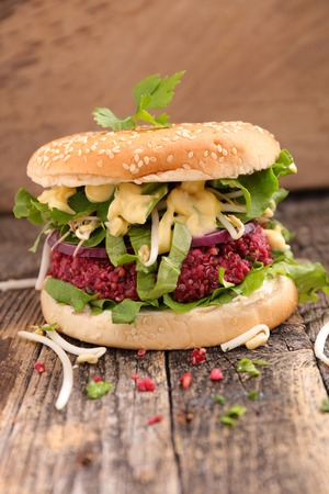 vegetarian hamburger: hamburger vegetarian