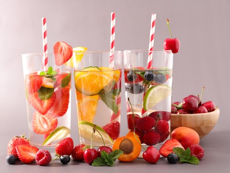 infused: detox infused water Stock Photo