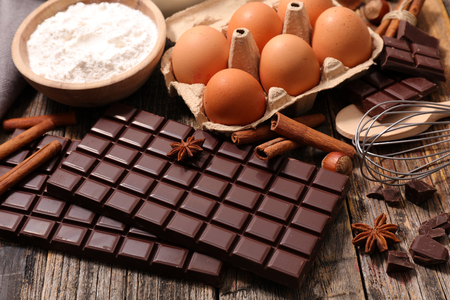ingredient: chocolate and ingredient
