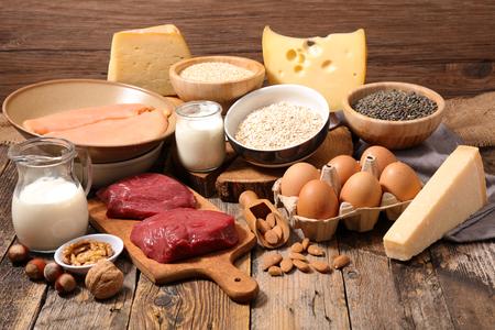 단백질, 단백질 공급원 식품 높은 스톡 콘텐츠