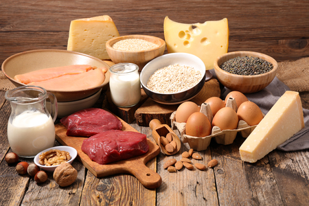 food high in protein,protein sources Banque d'images