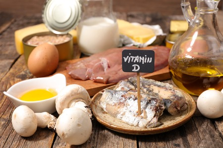 food high in vitamin D Stockfoto