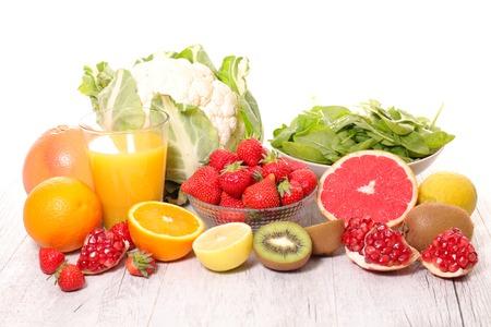 frutas y verduras, vitamina c