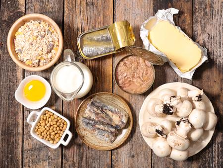 비타민 D의 식품 높은 스톡 콘텐츠