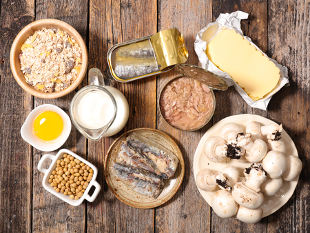 food high in vitamin D Banque d'images