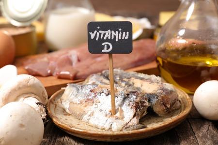 vitamin d: food high in vitamin D Stock Photo