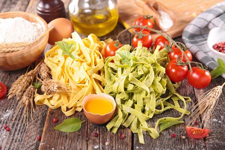 ingredient: raw tagliatelle and ingredient