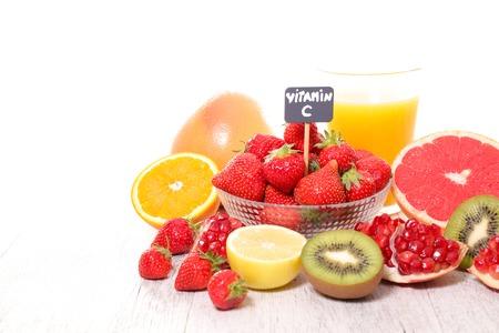 모듬 된 비타민 C 식품