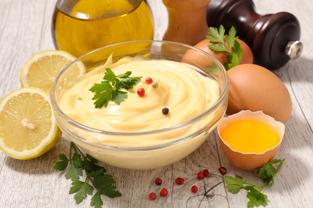 ingredient: mayonnaise with ingredient Stock Photo