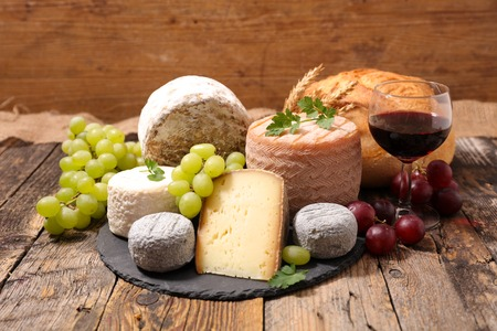 food products: assorted cheese Stock Photo