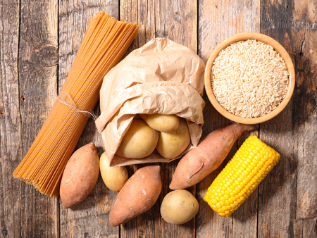 carbohydrate food background Stock Photo