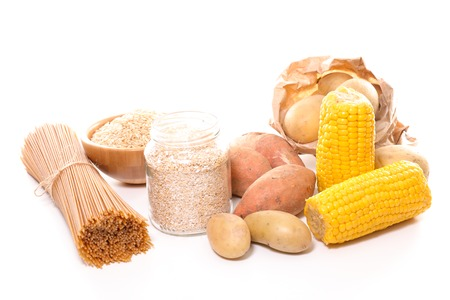 carbohydrate: carbohydrate food background Stock Photo