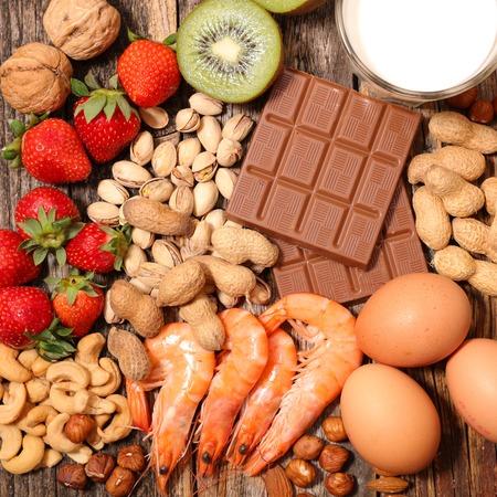 assorted allergy food 版權商用圖片
