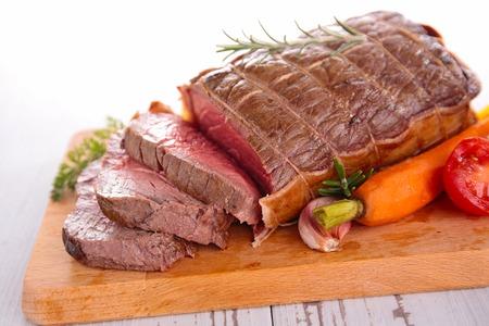 roast beef: roast beef and carrot Stock Photo