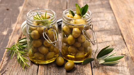 green olive: green olive Stock Photo