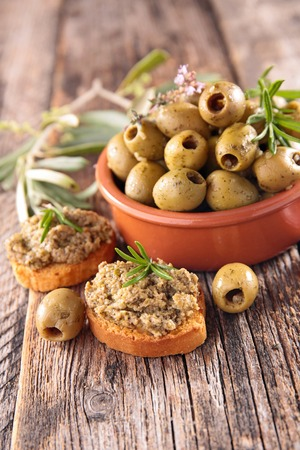 olive green: green olive and tapenade