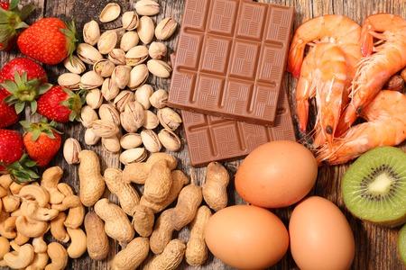 allergia étel Stock fotó