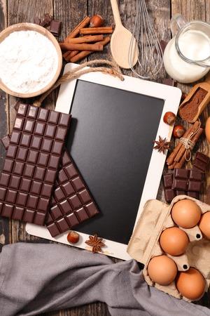 ingredient: ingredient for chocolate cake