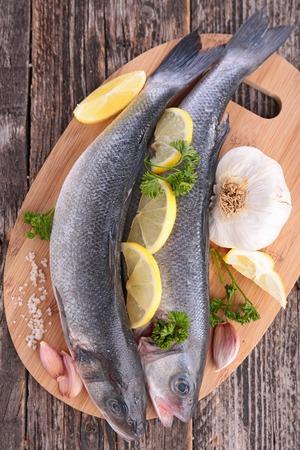 ingredient: raw fish and ingredient Stock Photo